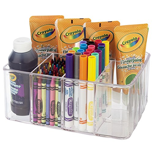 Clear Plastic Craft and Art Supply Organizer | 5 Compartments
