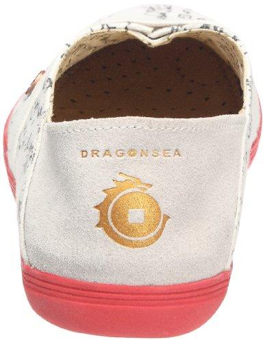 Dragonsea Herren Toile graffiti Sneaker Xian Blanc 88U7qzx
