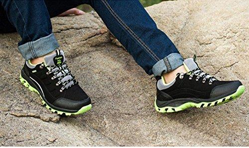 Ladies escursionismo trekking e impermeabili per antiscivolo scarpe Mens da arrampicata scarpe campeggio Black moda esterne inverno sportive autunno fAIndqR6