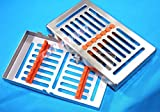 GERMAN STAINLESS 1 HEAVY DUTY DENTAL AUTOCLAVE STERILIZATION CASSETTE BOX TRAY FOR 7 INSTRUMENT-A+QUALITY BUTTON TYPE-DETACHABLE ( CYNAMED BRAND ) …