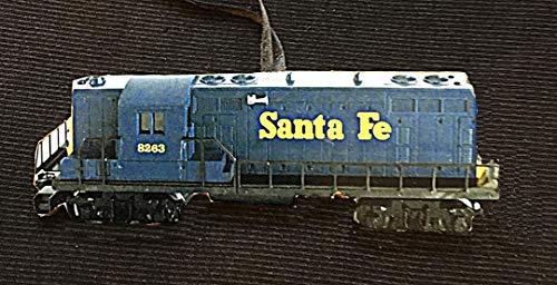 Lionel Train Ornament, Handcrafted Wood Santa Fe GP-7 Locomotive, O Gauge, Christmas Gift, Kids' Ornaments, 1950s Nostalgia Husband Father