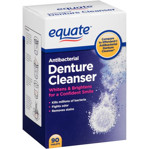 Equate Antibacterial Denture Cleanser 40ct, Compare to Efferdent by Equate