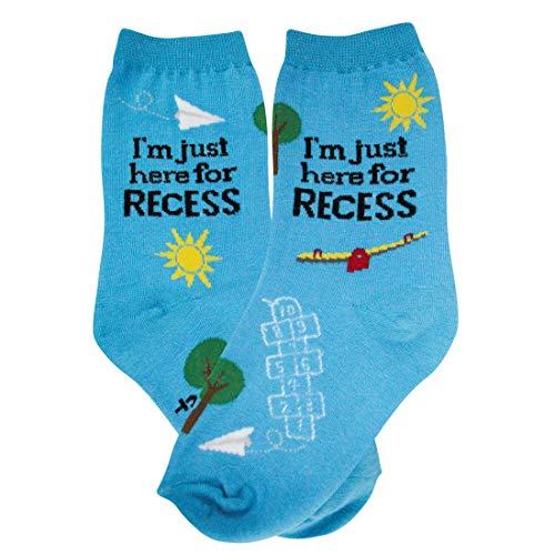 (Foot Traffic - Kids Novelty Socks (Childrens Shoe Size 12-5,)