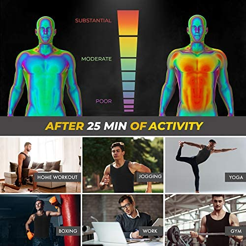 Sweat Vest for Men - (XS-10XL) - Advanced Weightless Neoprene Sauna Shirt – Increase Your Workout Motivation - Designed in The USA 4