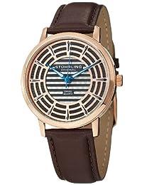 Stuhrling Original Men's 398.3345K54 Classic Winchester Colosseum Swiss Quartz Slim Rose Tone Watch