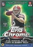 2014 Topps Chrome NFL Trading Cards Blaster Box