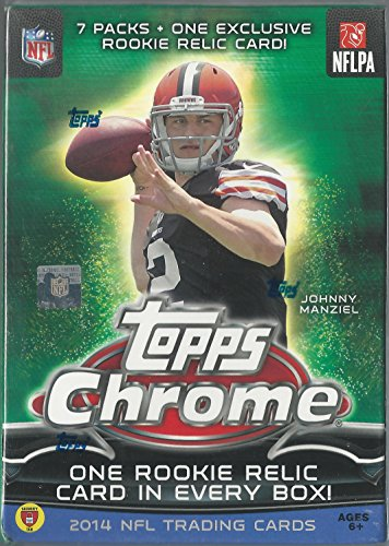 2014 Topps Chrome NFL Trading Cards Blaster Box