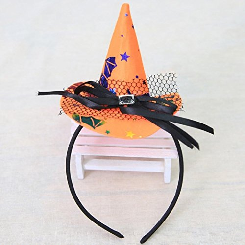 Surprise Multicolor Witch Cap Dress Accessories Headband for party and Halloween and Carnival (黄色)