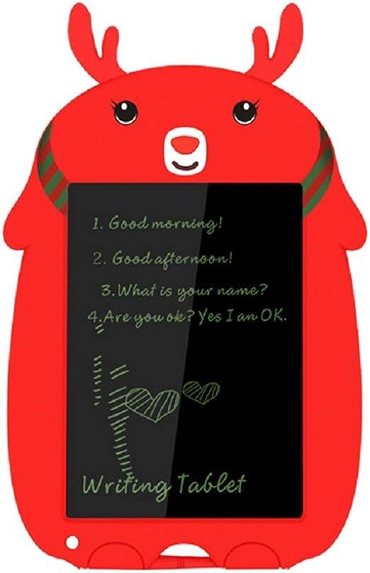 The perseids Elk LCDライティングタブレット8.5インチキッズ/大人向け、カラフルな落書きボード描画/書き込みパッド、eWriterスタイラスペン付き、教育用クリスマス女の子/男の子おもちゃギフト (赤)