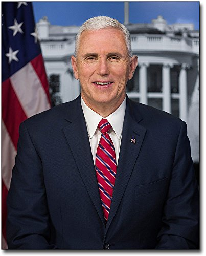 Trump Vice President Mike Pence Official Portrait 8X10 Silver Halide Photo Print