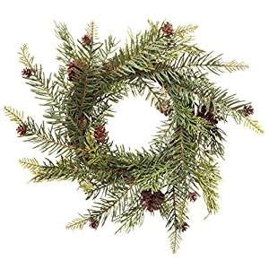 Red Co. Artificial Winter Pine & Juniper Wreath - Great Front Door and Wall Christmas Decoration - 13 Inches 114