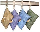 4 Packs Natural Air Purifying Bags, Huanlemai Bamboo Activated...