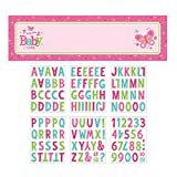 Amscan Appealing Welcome Little One-Girl Giant Sign Banner Baby Shower Party Decorations, 65'' x 20''. (12 Piece)