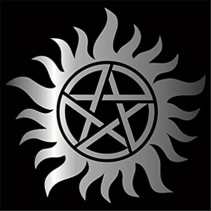 Amazon Supernatural Anti Possession Decal Sticker Silver 4