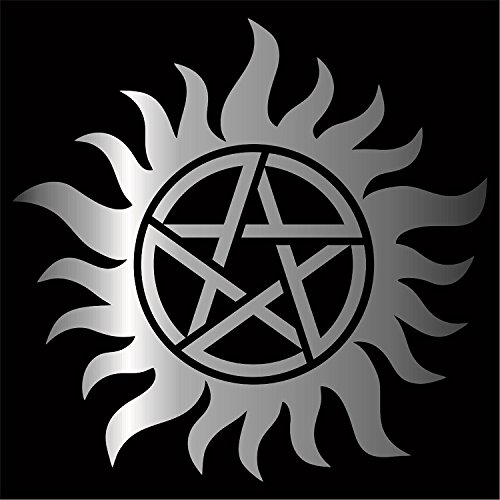 Supernatural Anti-Possession Decal / Sticker - Silver 4