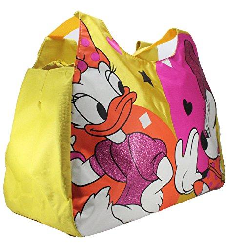 Disney Minnie & Paperina Borsa Spiaggia Borsa Da donna Doppio Manico Giallo