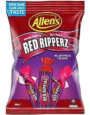 Allen's Red Ripperz Chewy Raspberry Flavour Bulk Bag Lollies, 800g