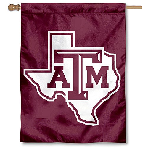 College Flags and Banners Co. Texas A&M Lone Star Logo Banner House Flag ()