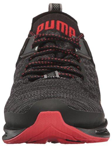 Puma Uomo Ignite Evoknit Lo Pavement Scarpa Cross-trainer Puma Nero / Asfalto / Rosso Ad Alto Rischio