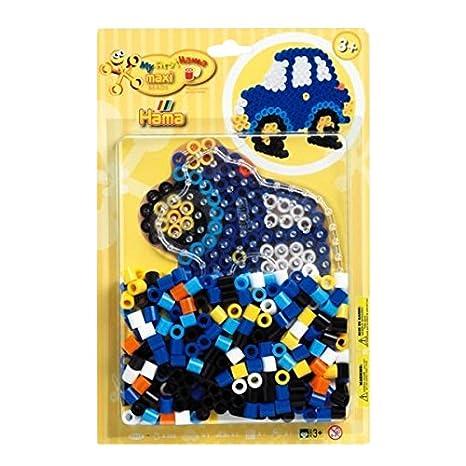 Hama 8922 - Maxiperlenset Auto, ca. 250 Bügelperlen, 1 Stiftplatte und Bügelpapier
