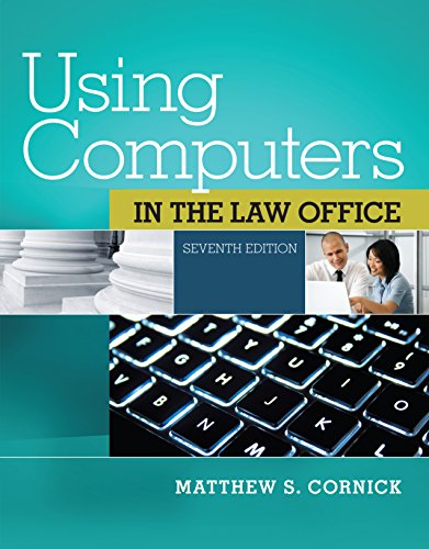 Using Computers in the Law Office (West Legal (West Computer)
