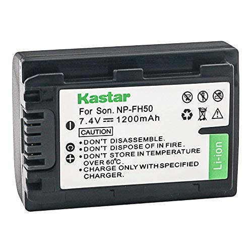 (Kastar High Capacity Replacement Camcorder Lithium-Ion Battery for Sony DCR-DVD650 Camcorder and Sony NP-FH30 NP-FH50 NP-FH70 NP-FH100 Batteries)