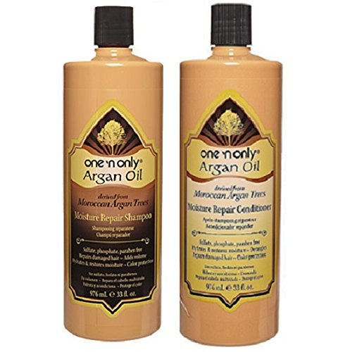 One 'n Only Argan Oil Moisture Repair Shampoo & Conditioner (32oz Set) (Perfume Bottle Splendor)