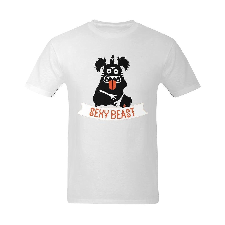 Flesiciate Men Sexy Beast Label Design T-Shirt