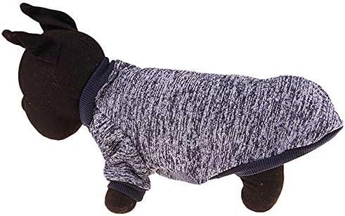 BAONUAN Ropa para Mascotas Color Cálido Ropa para Perros Ropa De Suéter De Algodón Suave De Invierno Abrigos De Cachorros para Perros Pequeños Chihuahua ...