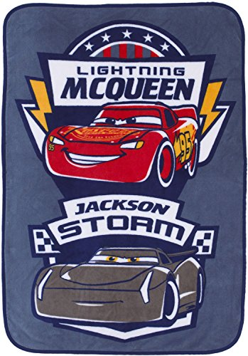 Disney/Pixar Cars 3 Movie Toddler Blanket with Lightning McQueen & Jackson -