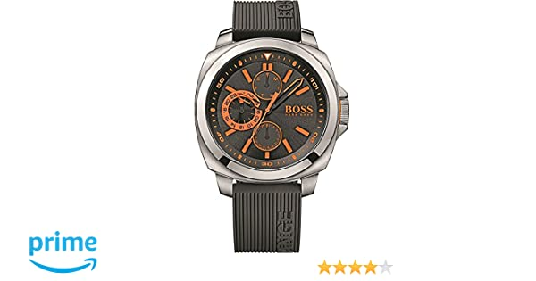 Amazon.com: Hugo Boss Black Dial SS Silicone Multifunction Quartz Mens Watch 1513101: Boss Orange: Watches