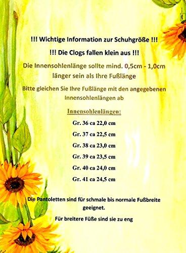 ACO Damen Clogs & Pantoletten Gartenclogs mit Lustigen Smilie-Motiven Gr. 36-41