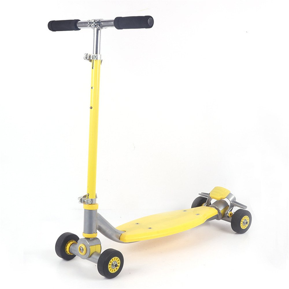 軽量4ホイールティルトとTPRホイールでキックスクーターを回すT - (Color バーボビーボード大人とティーンエイジャー (Color : Yellow) B07KLR17H1 - B07KLR17H1 Yellow, シューズ ファッションSTREET BROS:4dded73b --- grupocmq.com