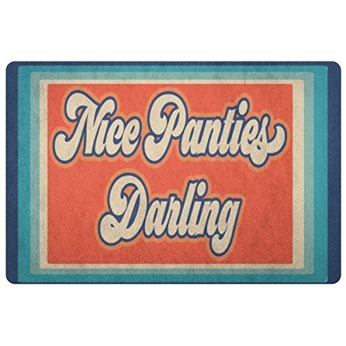 KYROLA LTD Funny Underwear Doormat - Nice Panties Darling ()