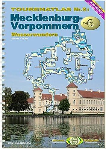 Wasserwandern Mecklenburgische Seenplatte Karte.Touren Atlas Wasserwandern Touren Atlas Wasserwandern 6