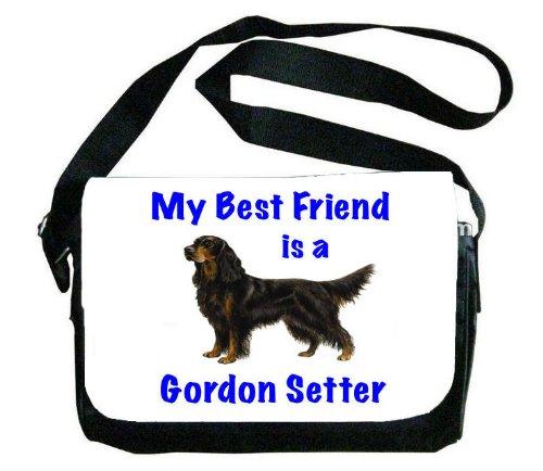 My Best Friend is Gordon Setter Messenger Bag