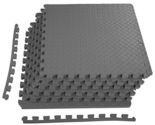 - BalanceFrom Puzzle Exercise Mat with EVA Foam Interlocking Tiles (Gray)