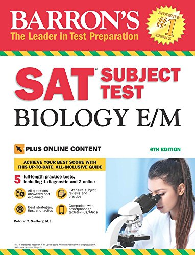 Barron's SAT Subject Test Biology E/M, 6th Edition: with Bonus Online Tests cover