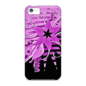 Top Quality Cases Covers For Iphone 5c Cases With Nice Purple Flower Appearance