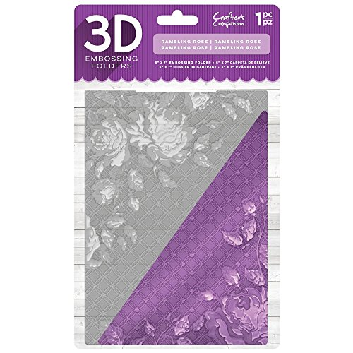 Crafter's Companion 5'' x 7'' 3D Card Embossing Folder - Rambling Rose by Crafter's Companion