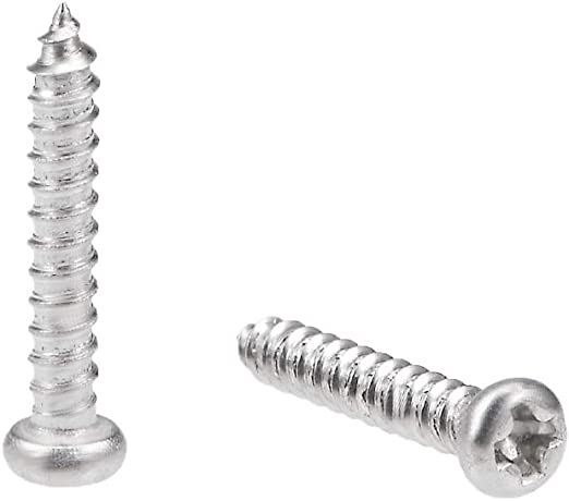 uxcell 2.6x6mm Self Tapping Screws Phillips Pan Head Screw 316 Stainless Steel Fasteners Bolts 50Pcs