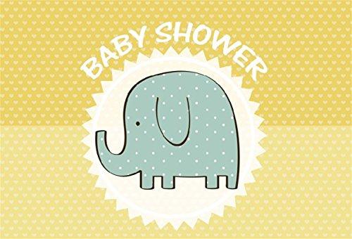 CSFOTO 8x6ft Background for Cute Elephant Sweet Baby Shower Photography Backdrop Cartoon Animal Pregnancy Announcement Gender Reveal Party Celebrate Newborn Photo Studio Props Vinyl Wallpaper (Digital 8' Photo Album)
