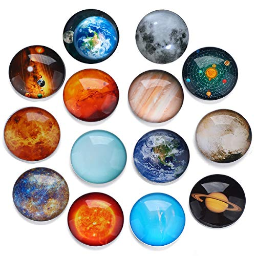 HXDZFX Planetary Fridge Magnets Solar System -14 PCS Refrigerator Magnets,Office Magnets,Calendar Magnet,Whiteboard Magnets,Christmas Magnets,Perfect Decorative Magnet Set with Storage ()