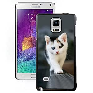 Fashionable Designed Cover Case For Samsung Galaxy Note 4 N910A N910T N910P N910V N910R4 With Odd Eyed Kitten Animal Mobile Wallpaper Phone Case
