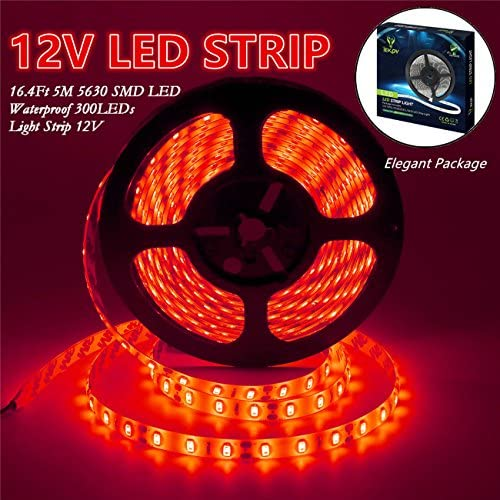 Red SMD 3528 Led Strip Lights Xmas Tape 5M 300Leds Good