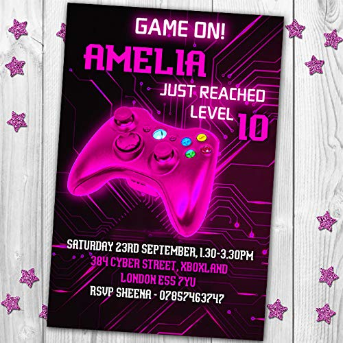 10 Gaming Video Game XBox PS4 Personalised Birthday Party