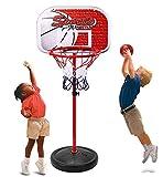 Erencook Adjustable Basketball Set Portable Basketball Hoop Goal Outdoor Sports Toys Game For Kids (59in(150cm))