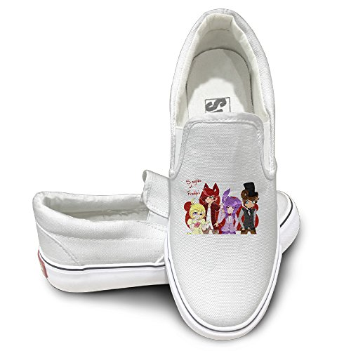 MGTER66 Ive Nights At Freddy Street Dance Slip On Shoes Unisex Style Color White Size (Spider Man Costume Locations)
