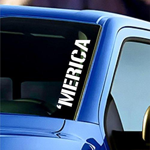 Merica Windshield Sticker Banner Vinyl Decal America American Car Truck Bumper Sticker