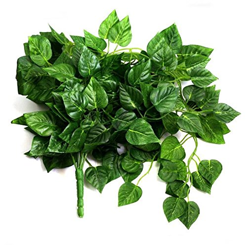 Danyoun Artificial Fake Hanging Vine Plant, Home Office Garden Outdoor Wall Fake Green Leaves Greenery Cover Decor, Kitchen Wedding Wall Ornaments Outdoor Wedding Ceremony Party Home Office Garden DIY